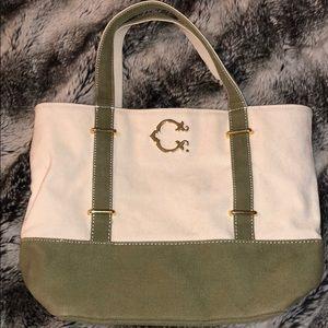 C.wonder medium natural zip top canvas tote bag